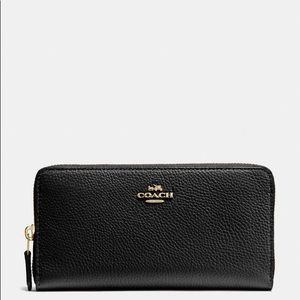 Coach Accordion Pebble Leather Wallet